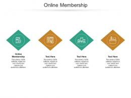 Online Membership Ppt Powerpoint Presentation Pictures Format Ideas Cpb