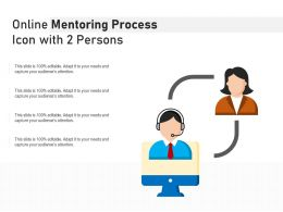Online Mentoring Process Icon With 2 Persons