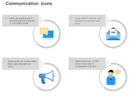 Online Messages Open Email Advertisement Sharing Business Views Ppt Icons Graphics