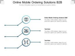 Online Mobile Ordering Solutions B2b Ppt Powerpoint Presentation Show Sample Cpb