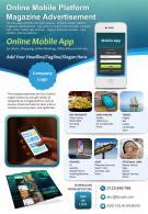 Online Mobile Platform Magazine Advertisement Presentation Report PPT PDF Document