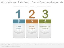Online Networking Trade Planning Example Presentation Backgrounds