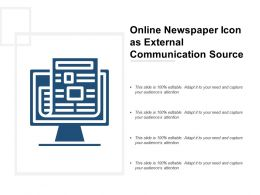 Online Newspaper Icon As External Communication Source