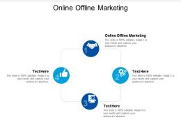 Online Offline Marketing Ppt Powerpoint Presentation Styles Icon Cpb