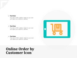 Online Order By Customer Icon