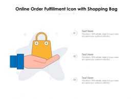 Online Order Fulfillment Icon With Shopping Bag