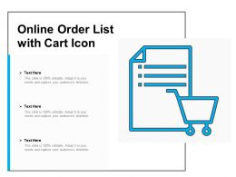 Online Order List With Cart Icon