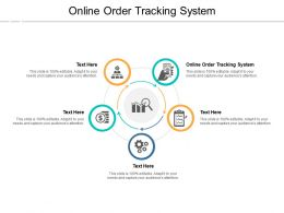 Online Order Tracking System Ppt Powerpoint Presentation Gallery Samples Cpb