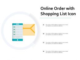Online Order With Shopping List Icon