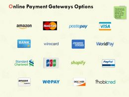 Online Payment Gateways Options Ppt Powerpoint Presentation Outline