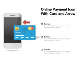 Online Payment Icon With Card And Arrow