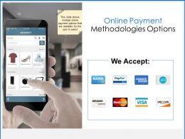 Online Payment Methodologies Options Marketing Ppt Powerpoint Presentation Portfolio