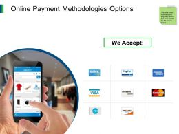 Online Payment Methodologies Options Mobile Ppt Powerpoint Presentation Templates