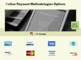 Online Payment Methodologies Options Ppt Powerpoint Presentation Pictures