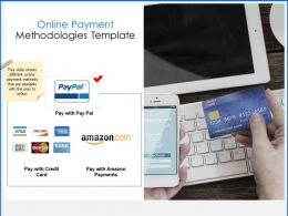 Online Payment Methodologies Template Business Ppt Powerpoint Presentation Ideas