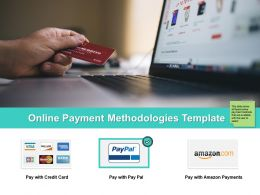 Online Payment Methodologies Template Ppt Powerpoint Presentation File