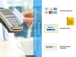 Online Payment Methodologies Template Strategy Ppt Powerpoint Presentation File Guide