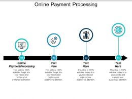 Online Payment Processing Ppt Powerpoint Presentation Icon Show Cpb