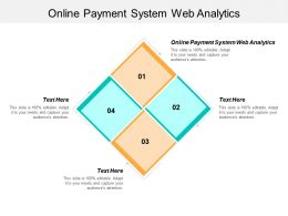 Online Payment System Web Analytics Ppt Powerpoint Presentation Infographic Template Background Designs Cpb
