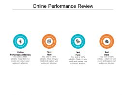 Online Performance Review Ppt Powerpoint Presentation Styles Template Cpb