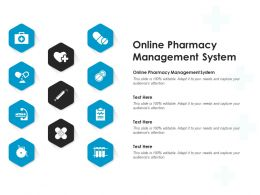 Online Pharmacy Management System Ppt Powerpoint Presentation Ideas Information