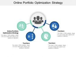 Online Portfolio Optimization Strategy Ppt Powerpoint Presentation Summary Example File Cpb