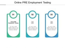 Online PRE Employment Testing Ppt Powerpoint Presentation File Clipart Images Cpb