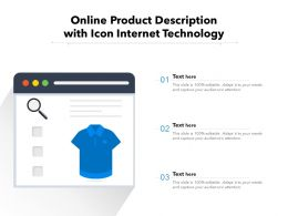 Online Product Description With Icon Internet Technology