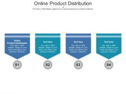 Online Product Distribution Ppt Powerpoint Presentation Model Template Cpb