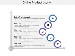 Online Product Launch Ppt Powerpoint Presentation Ideas Master Slide Cpb
