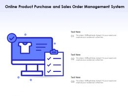 Online Product Purchase And Sales Order Management System