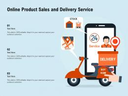 Online Product Sales And Delivery Service