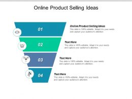 Online Product Selling Ideas Ppt Powerpoint Presentation Slides Rules Cpb
