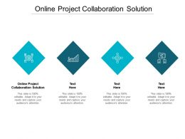 Online Project Collaboration Solution Ppt Powerpoint Presentation Show Icon Cpb