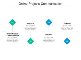 Online Projects Communication Ppt Powerpoint Presentation Slides Diagrams Cpb