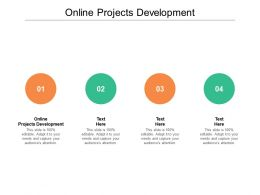 Online Projects Development Ppt Powerpoint Presentation Layouts File Cpb