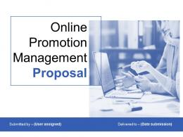 Online Promotion Management Proposal Powerpoint Presentation Slides