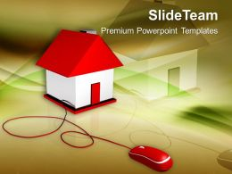 Online Purchase Sale Real Estate PowerPoint Templates PPT Themes And Graphics 0213