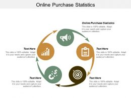 Online Purchase Statistics Ppt Powerpoint Presentation Gallery Samples Cpb