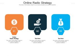Online Radio Strategy Ppt Powerpoint Presentation Icon Structure Cpb