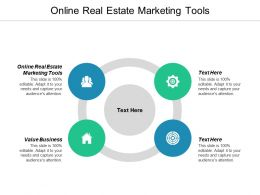 Online Real Estate Marketing Tools Ppt Powerpoint Presentation Icon Maker Cpb