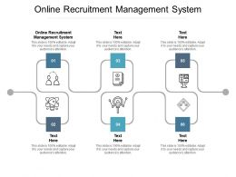 Online Recruitment Management System Ppt Powerpoint Presentation Ideas Graphics Cpb
