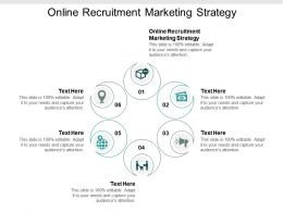 Online Recruitment Marketing Strategy Ppt Powerpoint Presentation Gallery Objects Cpb