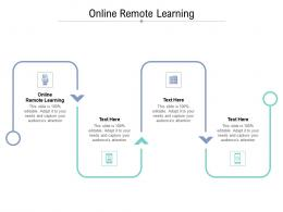 Online Remote Learning Ppt Powerpoint Presentation Icon Structure Cpb