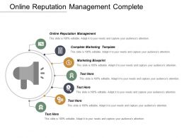 Online Reputation Management Complete Marketing Template Marketing Blueprint Cpb
