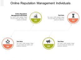 Online Reputation Management Individuals Ppt Powerpoint Presentation Ideas Pictures Cpb