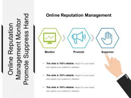 Online Reputation Management Monitor Promote Suppress Hand