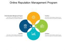 Online Reputation Management Program Ppt Powerpoint Presentation Infographics Smartart Cpb
