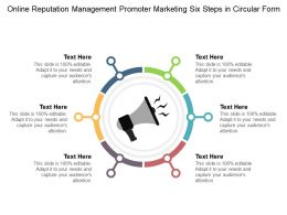 Online Reputation Management Promoter Marketing Six Steps In Circular Form