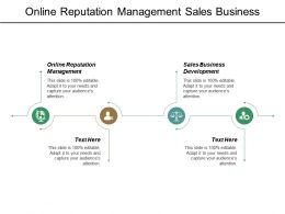 Online Reputation Management Sales Business Development Balanced Scorecards Cpb
